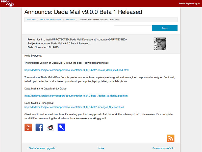 Dada Mail - Self Hosted, Easy to Use Email Marketing Mailing